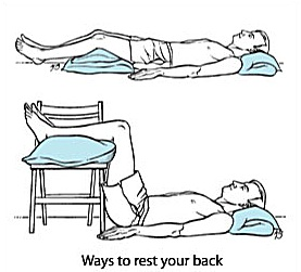 Ways to rest your back